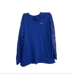 Obey blue long sleeve cherry design shirt